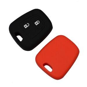 Image 4 - OkeyTech Silicone voiture clé porte couvercle pour Peugeot 206 307 207 408 pour Citroen C2 C3 C4 caoutchouc souple 2 bouton coque de boîtier porte clé