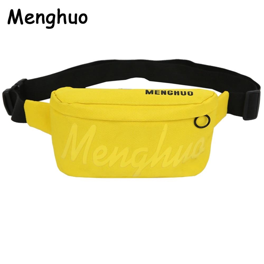 Menghuo Luxury Handbags Women Bags Designer Waist Bag Fanny Packs Lady Belt Bags Women's Brand Chest Handbag Shoulder Bag Purse