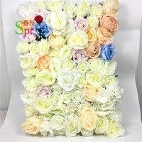 SPR цветочные композиции для искусственные розы свадебный цветок стены фон арки Стол Центральным украшения 10 шт./лот