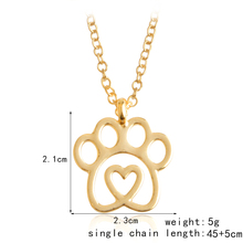 Gold/Silver Love&Paw Pendant Necklace