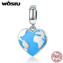WOSTU Authentic 925 Sterling Silver Rhythm Of Earth Dangle Bead Fit Original WST Charm Bracelet Pendant Jewelry Gift CQC351(China)