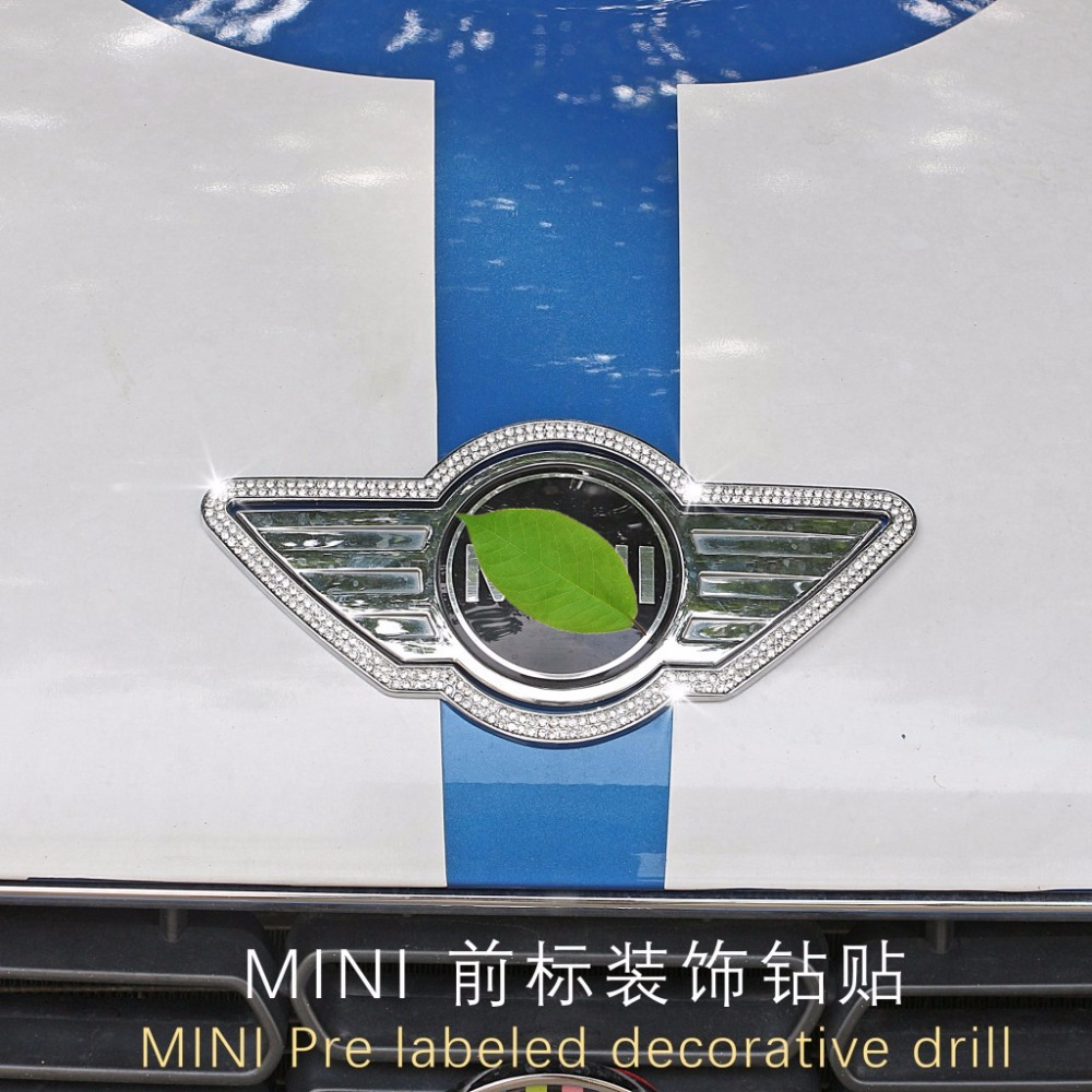Car Badge Logo Front Bonnet Hood Rear front Emblem for Mini Cooper F54 F55 F56 F60 R60 R61 R55 R56 Countryman car styling hood trunk rear bonnet side stripes decal stickers jcw work graphic all4 for mini cooper countryman f60 2017 present
