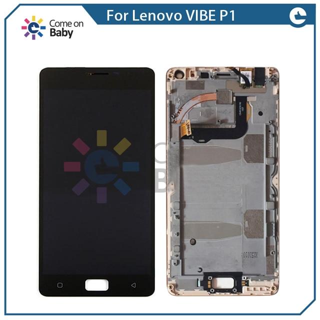 With Frame For Lenovo Vibe P1 P1c72 P1a42 P1c58 Turbo Pro P1MC50 LCD Display