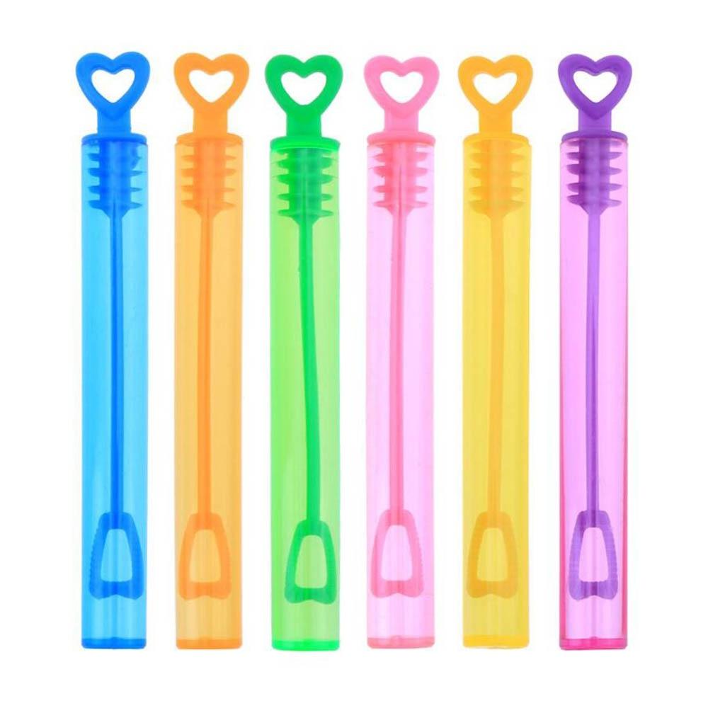 12Pcs Empty Bubble Blower Maker Soap Bottles Wedding Birthday Party Toys Decor