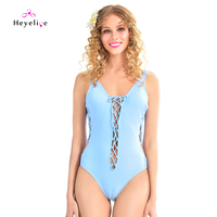 Sexy Bandage Swimwear Women One Piece Swimsuits High Cut Hollow Monokini New Beach Bathing Suits Trikini Hipster Sport Swimsuits