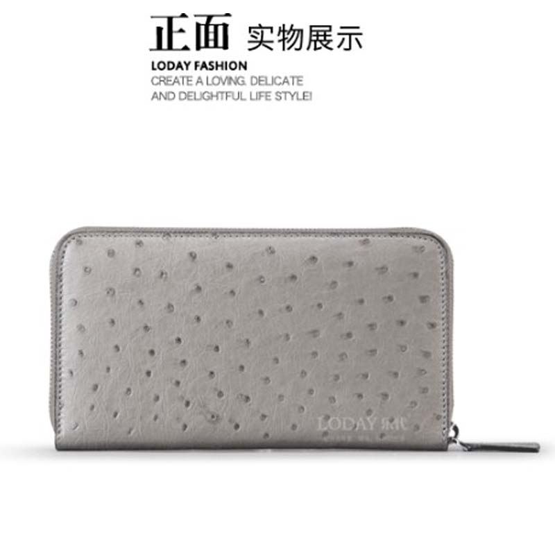 ledai Wallet lady ostrich skin  Purse women long thin 2019 new leather zipper small fresh multi-functionalledai Wallet lady ostrich skin  Purse women long thin 2019 new leather zipper small fresh multi-functional
