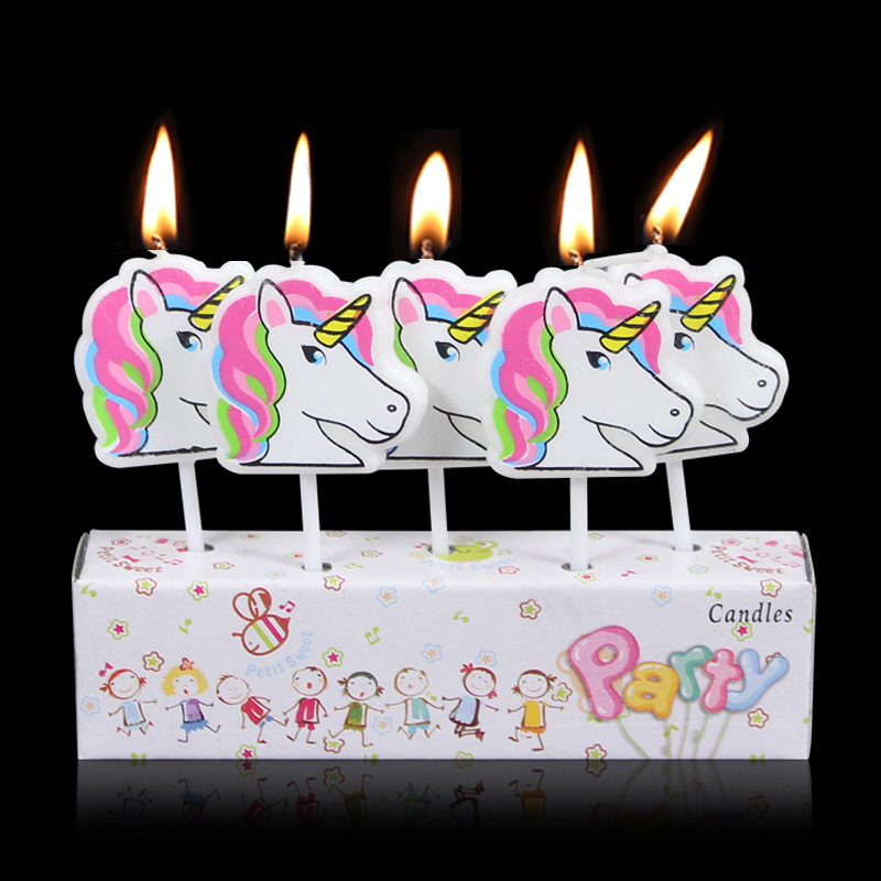 Phenomenal 5Pcs Horse Horse Pony Pirate Batman Suprman Smokeless Candles For Personalised Birthday Cards Veneteletsinfo