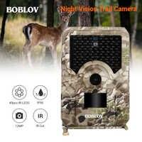 BOBLOV PR200 12MP 49PCS IR Leds Trail Hunting Camera Waterproof Outdoor Video Surveillance Wildlife Cameras Photo Traps w/belt
