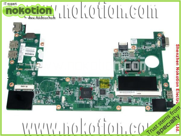 все цены на NOKOTION laptop motherboard for HP mini 110 630966-001 mainboard Intel N455 DDR3 high quality онлайн
