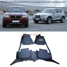 Interior Floor Mats & Carpets Foot Pads Protector For BMW X3 E83 2006-2010 for honda civic 2006 2010 floor mats foot carpets auto step mat high quality brand new water proof clean solid color mats