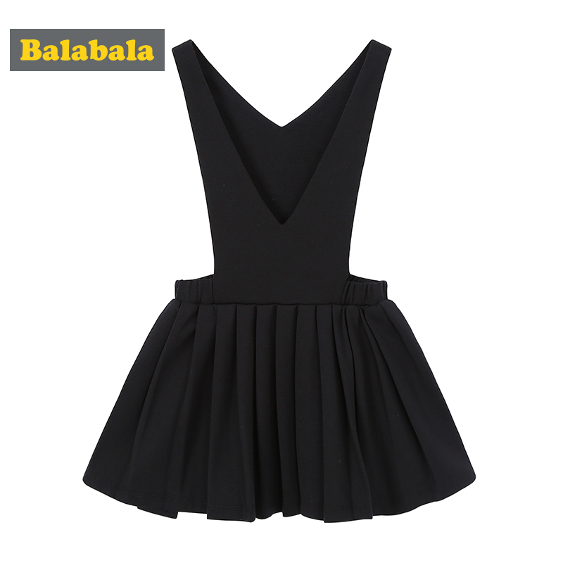 Balabala new spring 2018 girl dress children clothes toddler dresses girls enfant fashion clothing dress sweet suspender girls