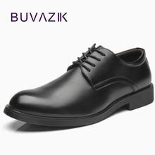 BUVAZIK Formal de los hombres Zapatos de encaje Casual de goma Zapatos de oficina de los hombres Slip on Zapatos de Vestir de los hombres Zapatos de negocios Zapatos Vestir Hombre
