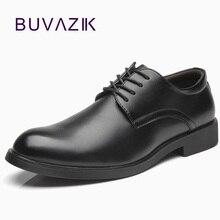 Buvazik フォーマルカジュアルレースアップゴムオフィスシューズメンズシューズでドレスシューズビジネスシューズ zapatos vestir hombre