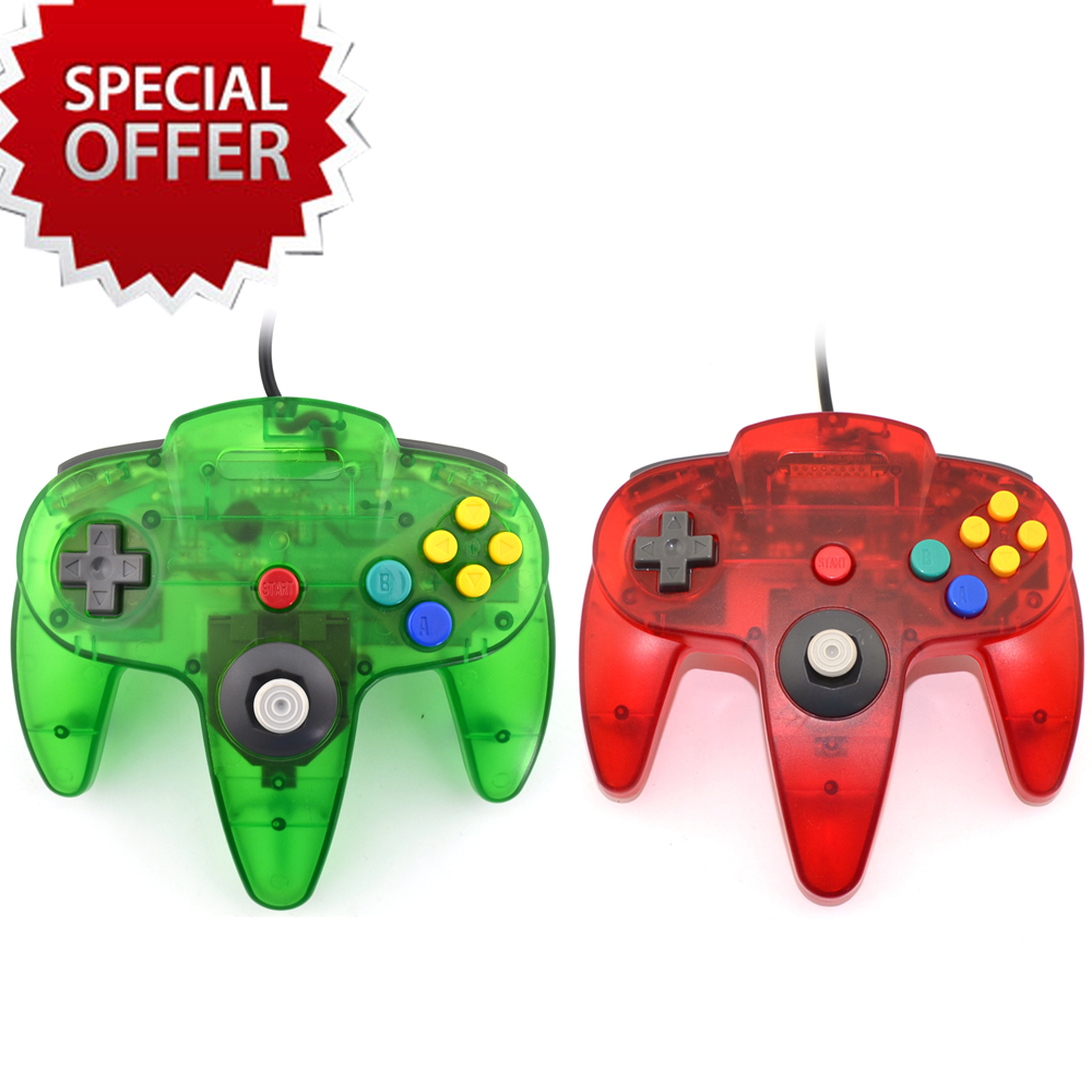 Transparent USB Game Controller for PC Gamepad Joystick Not compatible for N64 64 style Computer controller