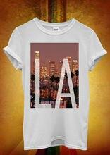 Los Angeles LA Downtown Retro Trees Men Women Unisex T Shirt Top Vest 741 New Shirts Funny Tops Tee