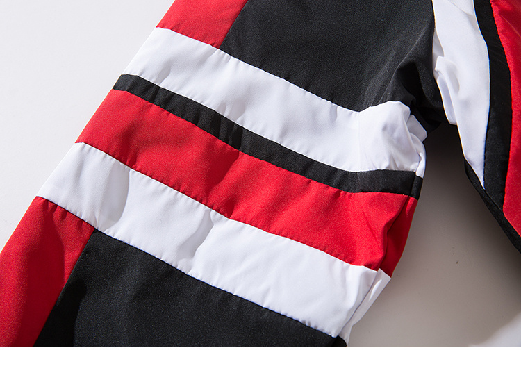 ... un Chaqueta rompevientos de bloque de Color Hip Hop para hombre 2018  otoño Vintage Patchwork chaquetas abrigos negro Casual Zip-Up Track  chaquetas ... bf53d051aa4