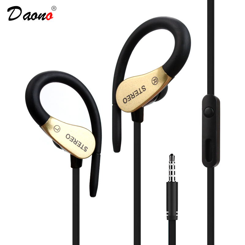 Ear Hook  High quality Sport Headphone Music Earphone Running Sweatproof Stereo Headset With Mic For All Mobile Phone high quality colorful cheap price hifi fever sport earphone headset smartphone tablet headphone with mic for adult and kid lady
