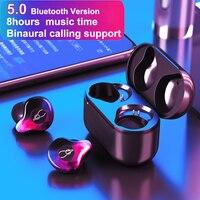 Шабаш X12 Pro Беспроводной гарнитура Bluetooth V5.0 вкладыши пара наушников с загрузочной коробки наушники Беспроводной Bluetooth наушники