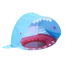 Shark Shape Kids Baby Games Beach Tent Portable Build Outdoor Sun Child Swimming Pool Play House Toys For