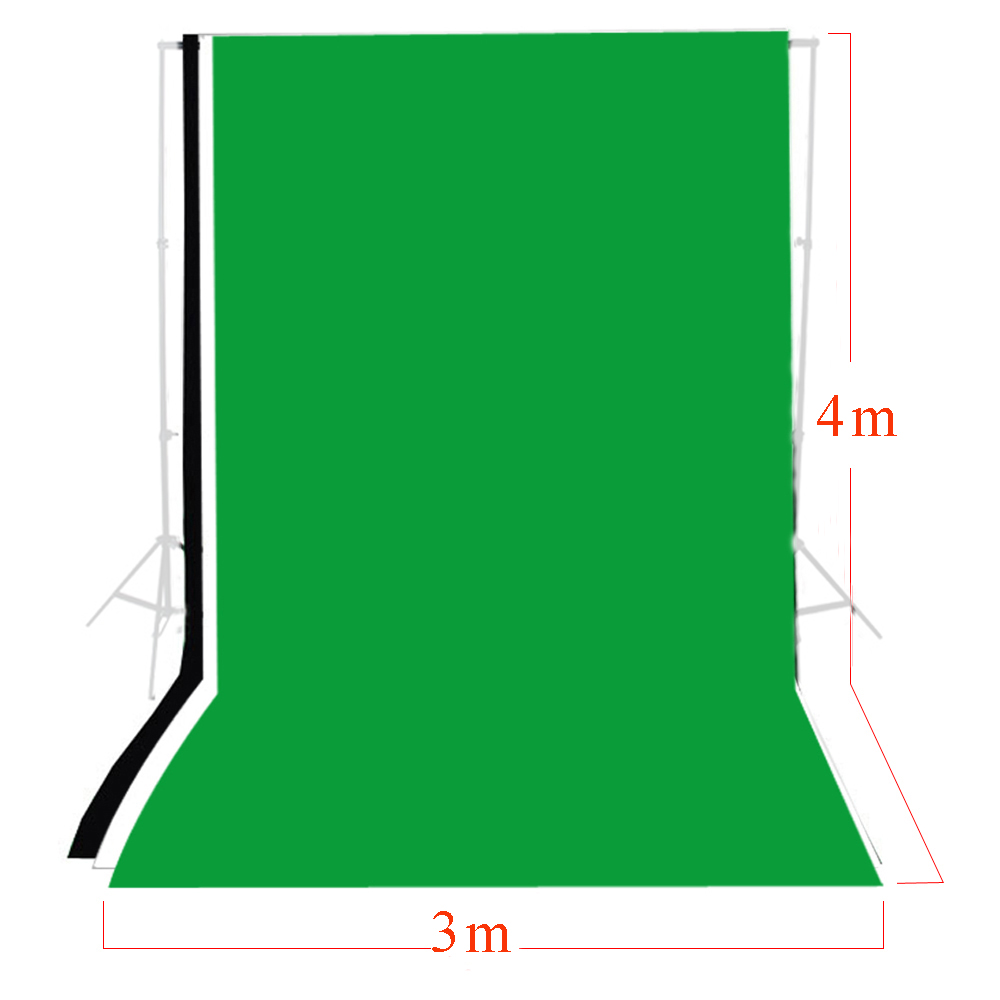 3 pcs Photo Studio 3m x 4m Photo Studio Solid Muslin Backdrop Kits Background Green Black White Backdrop Set Chromakey PSB6C фотоальбом коллекция m studio коричневый за семью замками тип 4 нат кожа