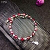 KJJEAXCMY fine jewelry 925 чистого серебра, инкрустированные Ruby женский браслет ювелирных изделий поддержка Тесты