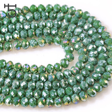 6MM Candies Color Faceted Rondelle Crystal Beads Glass Wheel Spacer String Beads Supplies for Jewelry Accessories Wholesale Z142
