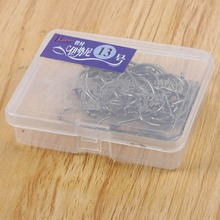 40 Pcs  Size Box Assorted Black Silver Fishing Sharpened Hook Lure Tackle