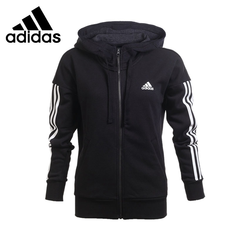 Original New Arrival 2018 Adidas Performance ESS 3S FZ HD Women's jacket Hooded Sportswear цена