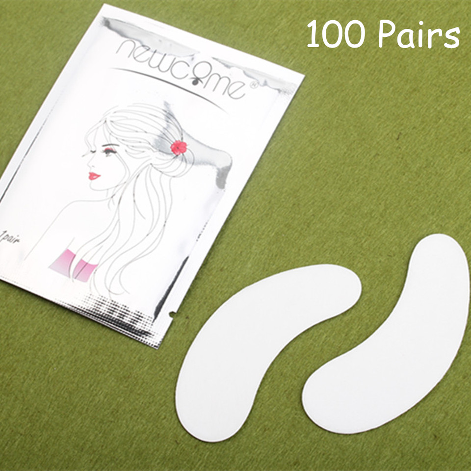 NEWCOME Eyelash Pads Lint Free Tips Stickers Eyelash Patches Pads For Eyelash Extension Under Eye Pads Paper Patches