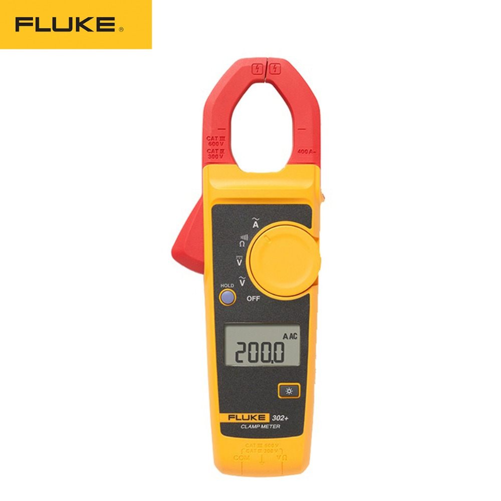 Fluke 302+ Digital Current Clamp Meter Pliers Ammeter Resistance Tester AC  Amperimetric Clamp Multimeter Ampere