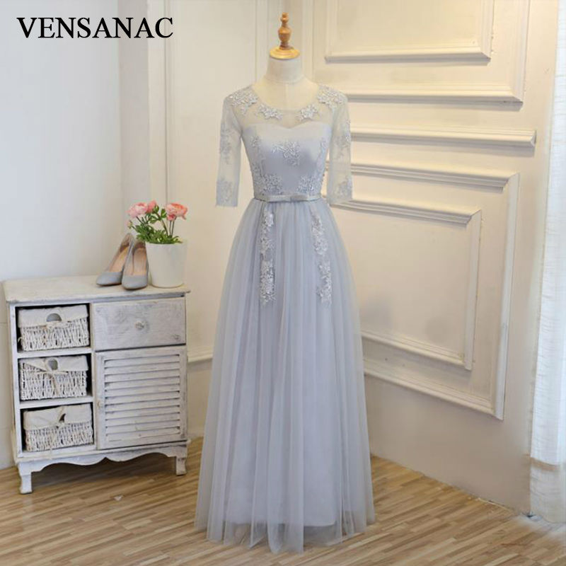 VENSANAC 2018 New A Line Sashes Sweetheart Long Evening Dresses Half Cap  Sleeve Elegant Draped Sash Party Prom Gowns - 14xpress Online Shopping Site 6cc9f55f26e7
