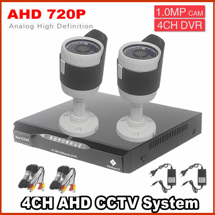 kit video surveillance system 4ch 2PCS IR Indoor/Outdoor CCTV AHD Camera 36 LEDs Home Security System Surveillance CCTV system keeper 700tvl 4ch home video cctv surveillance system kit for analog camera 2pcs outdoor indoor dome 20m ir security camera