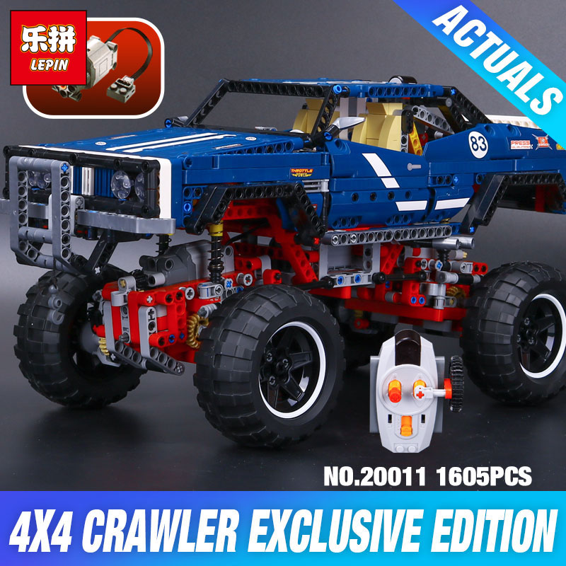 lepin 20011 technic remote control electric off-road vehicles Model building block Bricks Kits DIY compatible 41999 Kid toys lepin 20011 1605 pcs super classic limited edition of off road vehicles model building blocks bricks compatible toy 41999