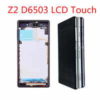 L50W Für SONY Xperia Z2 D6502 D6503 D6543 LCD Display mit rahmen Touch Screen Digitizer Montage Für SONY Xperia Z2 LCD
