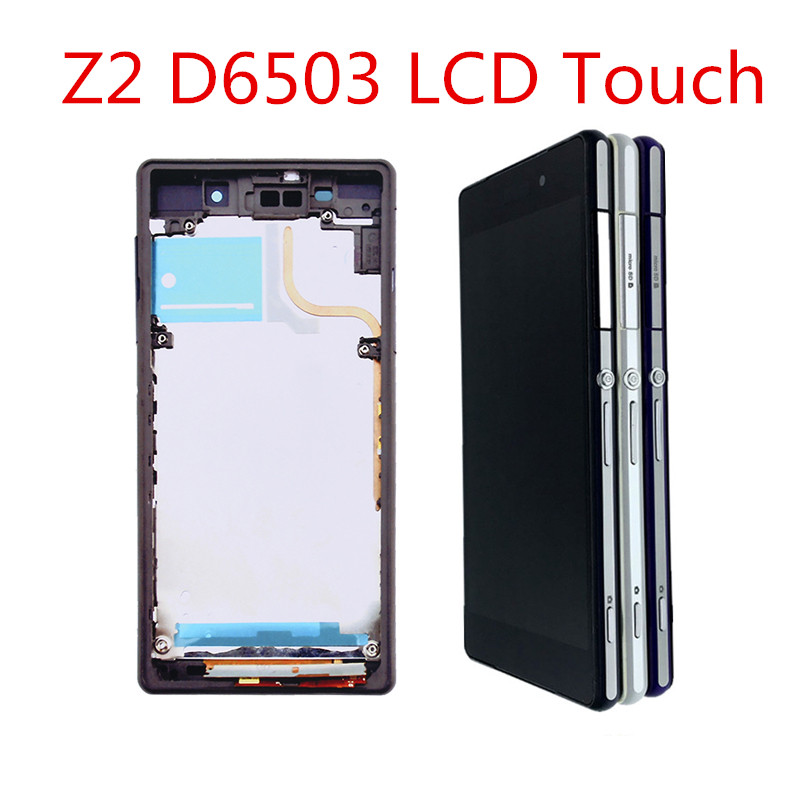 L50W For SONY Xperia Z2 D6502 D6503 D6543 LCD Display with frame Touch Screen Digitizer Assembly For SONY Xperia Z2 LCD in Mobile Phone LCD Screens from Cellphones Telecommunications