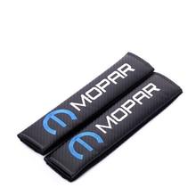 Embroidery for MOPAR emblem Car carbon fiber style seat belt cover shoulder pad Chrysler jeep ford chevrolet accessories
