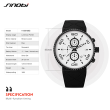 Silicone Band Sport Chronograph Watch
