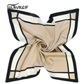 High Quality Brand Square Small Silk Scarf Women 60*60cm Fashion Ladies Scarves Ring Shawl Neck 2017 Spring Foulard Femme Pz13