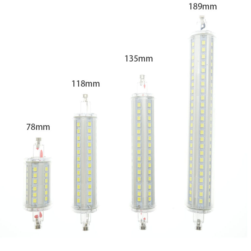 Lamparas r7s led corn 78mm 118mm 135mm 189mm light 2835smd for R7s led 78mm 20w