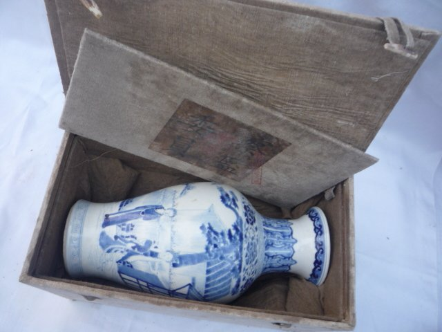 collection  Qing Dynasty blue and white porcelain vase (Beijing - Home Decor