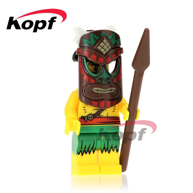 Single Sale Historic Site Quest Aborigines Tutankhamun Hum Warrior Building Blocks Super Heroes Bricks Toys for children XH 636