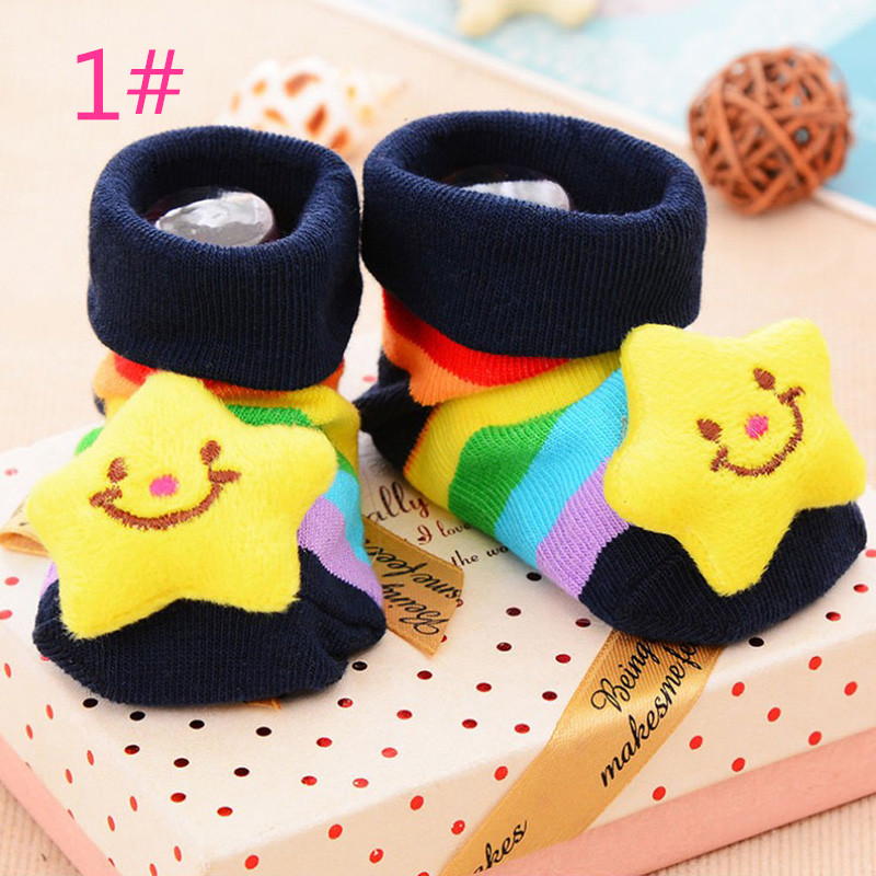 Baby Girl Boy Newborn Toddler Anti-slip Cotton Socks Cartoon baby hosiery ...