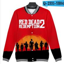 2019 new red dead redemption 2 Baseball uniform game around popular casual wear anime fans youth action Sweatshirt