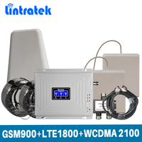 Lintratek Tri Band 2G 3G 4G For GSM 900 LTE 1800 WCDMA 2100 MHz Mobile Signal