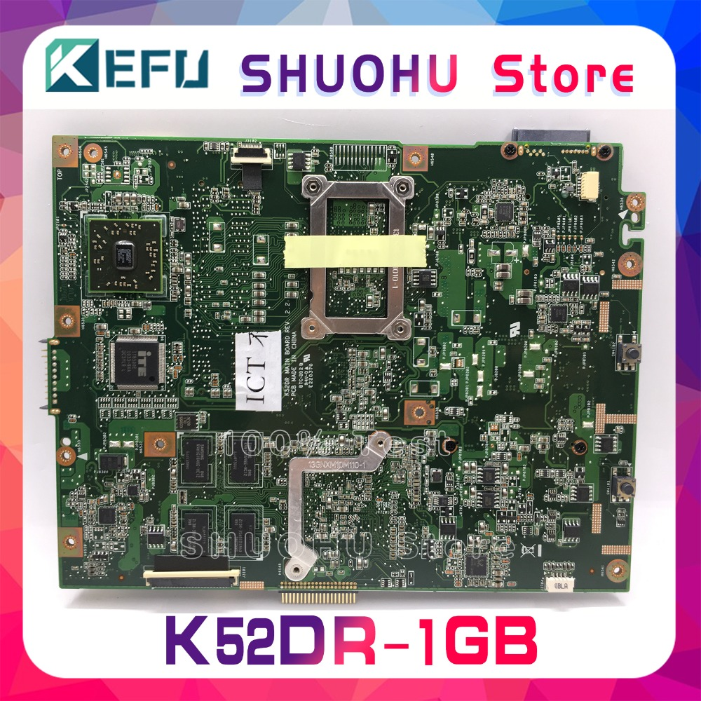 KEFU For ASUS K52DR K52D K52DE A52D A52DR A52DE 1GB Video HD5470 Laptop Motherboard Tested 100% work original Mainboard 3