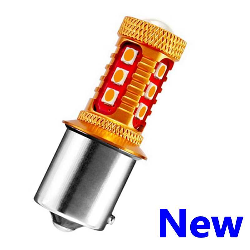 1PCS PY21W 7507 BAU15S 1156PY 150 Degree 1000Lm 15 SMD 3030 LED Auto Turn Signal Lamp Car Direction Indicator Light Amber Yellow