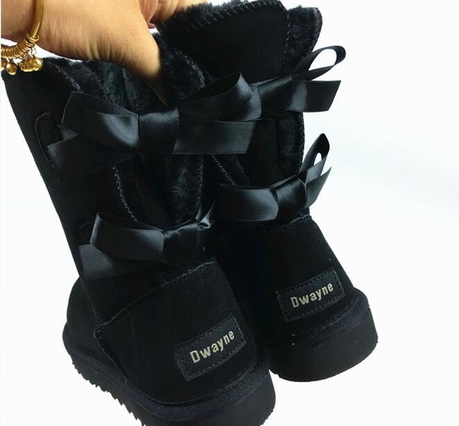 2018 australie зимняя обувь Женские ботинки bota кожа Женские Австралийские маленький ботинок мех теплые зимние сапоги 34-44 теперь коробка