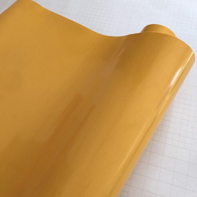 10/20 Вт, 30 Вт, 40/50*152 см черная, глянцевая, виниловая пленка глянцевый Автомобильная фольговая пленка Стикеры с воздушных пузырьков мотоцикл Обёрточная бумага(большой - Название цвета: Yellow