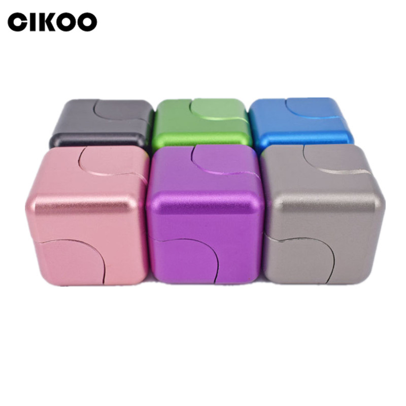 CIKOO Luxury EDC Infinity Cube Fidget Cube Mini New Aluminum Alloy Hand Spinner Whirlwind Square Finger Gyro EDC Decompression