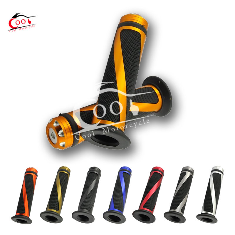 1 Set Universal 7 8 Motorcycle Bike Rubber Handlebar Hand Grips with Caps Bar Ends 8